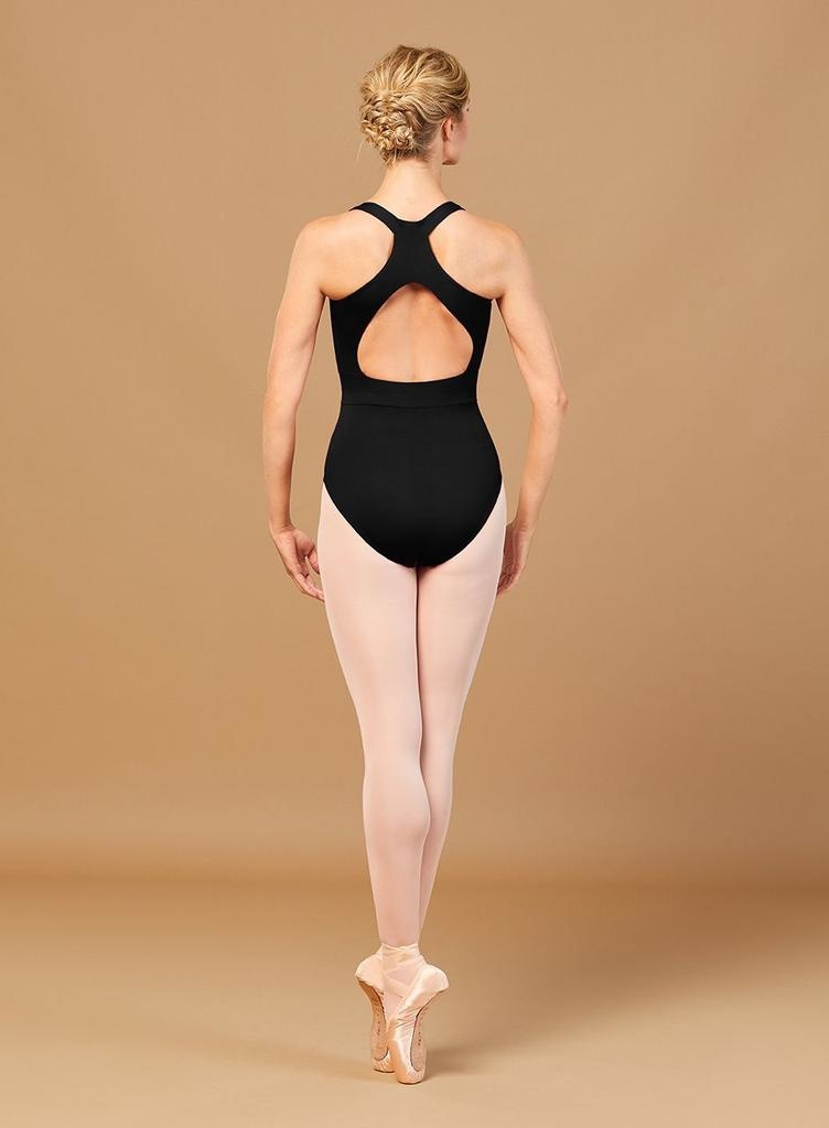 Bloch Features of the Rosetta Embroidered Waist Leotard<br /> <br /> Ornate embellished waistband<br /> Thick straps and open back<br /> V-neckline
