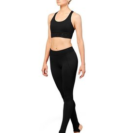 Bloch FP5230 Full Length Leggings with Embroidered Trim and Bottom  Stirrup