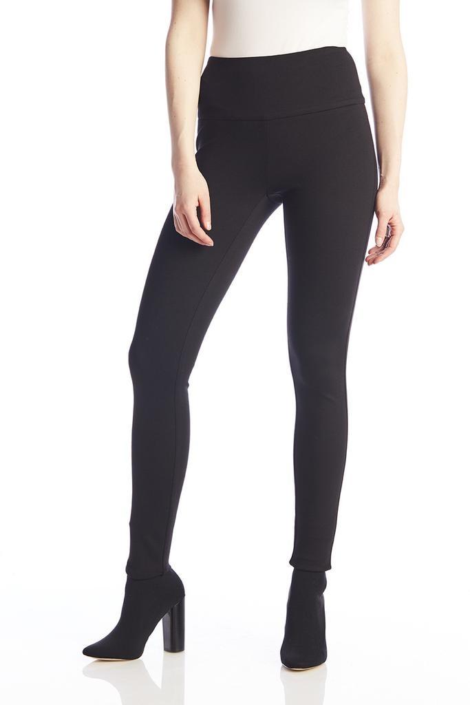 Up Pants Ponte Illusion Legging in Black.