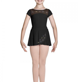 Bloch Mirella Jasmine Cap Sleeve Leotard, BLACK, 12