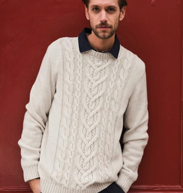 Saint James Saint James 2369 Men's Nancy Cable Knit Sweater - ON SALE !!Saint James 2369 Men's Nancy Cable Knit Sweater, BEIGE, M