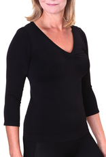 Firma Energywear Firma-Ladies-V-Neck-3/4-SleeveFirma-Ladies-V-Neck-3/4-Sleeve, BLACK, M