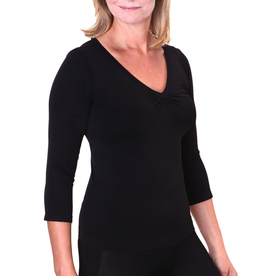 Firma Energywear Firma-Ladies-V-Neck-3/4-SleeveFirma-Ladies-V-Neck-3/4-Sleeve, BLACK, S