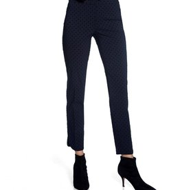 Up Pants Up Pants 67026 Navy Flocked Dot -Petal Split