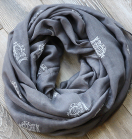 Robbie Craig's Northern Projects Assorted Scarves, GREY OWL, O/S