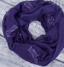 Robbie Craig's Northern Projects Assorted Scarves, PURPLE RAVEN, O/S