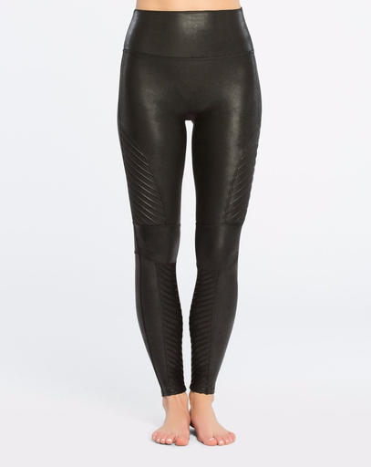 Spanx Spanx 20136R Faux Leather Moto Leggings, BLACK, S
