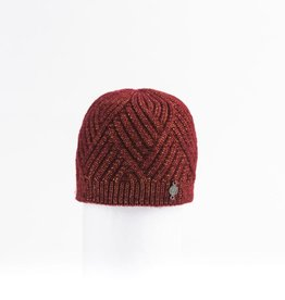 Canadian Hat Company Ltd. Harricana Chevron Beanie with Upcycle Fur Pom Pom