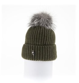 Canadian Hat Company Ltd. Harricana Beanie With Upcycle Fur Pom Pom
