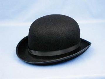 Derby Hat, BLK, Adult
