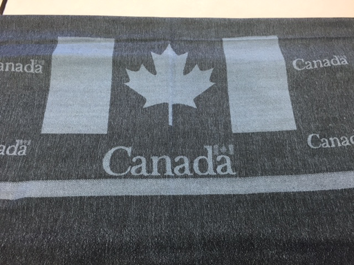 Canada Scarf, DARK RED, 0/S