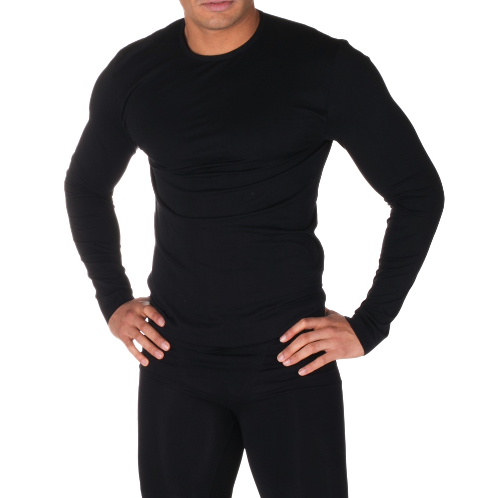 Firma Energywear Firma Energywear-Men's-Long-Sleeve-Thermal-Top, BLACK, XL
