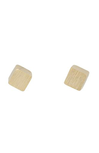 ELK Elk Cube Stud Earrings, SILVER, O/S