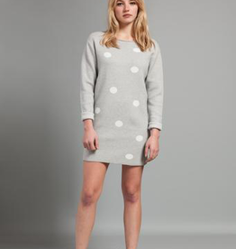 Pistache Pistache C19 Knitted Polka Dot Sweater/Dress, GREY MELANGE, L/XL