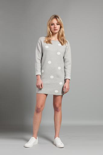 Pistache Pistache C19 Knitted Polka Dot Sweater/Dress, BLACK, S/M