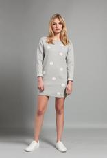 Pistache Pistache C19 Knitted Polka Dot Sweater/Dress, GREY MELANGE, S/M