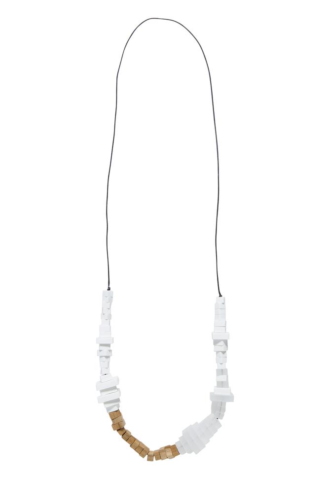 ELK Elk Static Long Necklace N008/9S16, WHITE, O/S