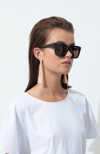 ELK Elk Bari Tassel Earrings, OLIVE, O/S