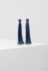 ELK Elk Bari Tassel Earrings, BLUE, O/S