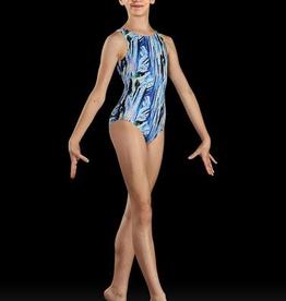 Bloch Bloch Dynami GB188C Gymnastics Bodysuit, ELECTRIC BLUE, SMALL