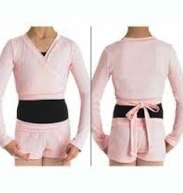 Bloch Bloch CZ0999-Girls-X-Over-Wrap-Sweater, PINK, L