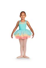 Bloch Bloch Childrens Gelato Three Colour Tutu Skirt, AQUA, 4-6