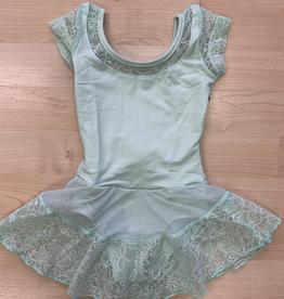 So Danca So Danca Leotard w/ Lace Skirt, AQUA, 4-6