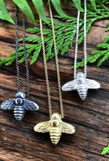 LoveMorningMoon Love Morning Moon Bee Necklace Sterling Silver, SILVER OXZIDIZED, O/S