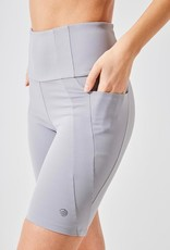 """MPG Women's Knit 8"""" Inseam  Slim Shorts with Side pockets"""