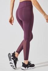 "MPG Women's Knit 25"" Inseam Legging  sheer inserts"