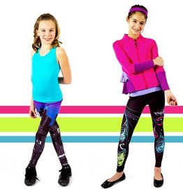 Limeapple Limeapple Printed Child Capri Leggings