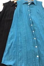 Vigorella Vigorella Asymmetric Hem Collared Dress