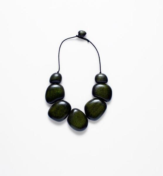 ELK Elk Loden/Black Cord Dome Short Necklace