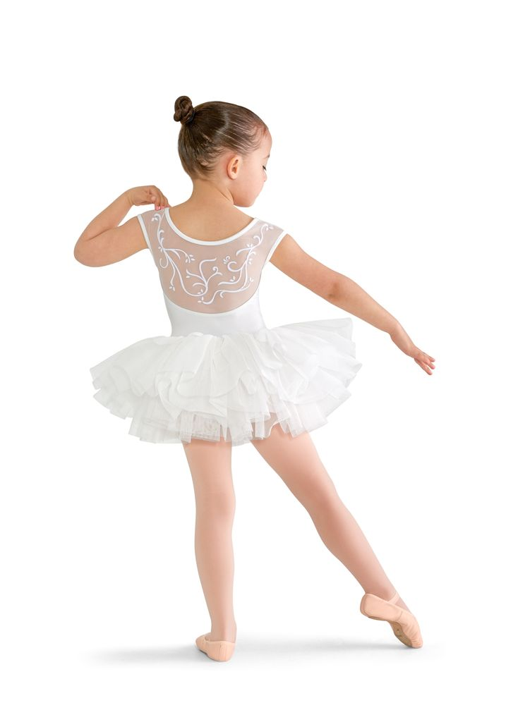 Bloch Bloch Children's Vine Flock Back Cap Sleeve Tutu Leotard
