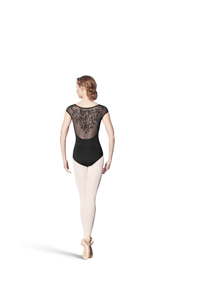 Bloch Bloch Vine Flock Back Cap Sleeve Leotard