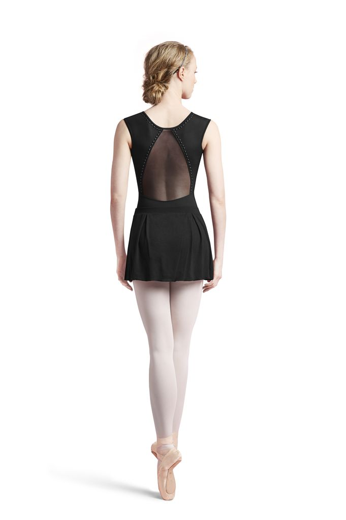 Bloch Block Studded Back Cap Sleeve Leotard