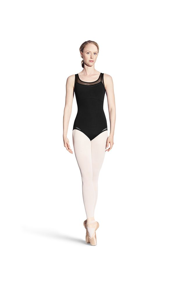 Bloch Bloch Studded X-Back Tank Leotard
