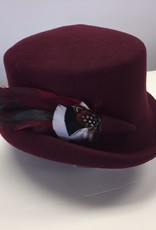 Canadian Hat Company Ltd. Canadian Hat Ultima Callie Black Felt Hat/Natural Feathers