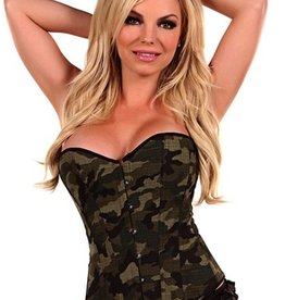 Daisy Corsets Strapless-Camouflage-Corset