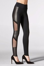 Mondor Mondor 5668 Faux Leather with Mesh Fashion Leggings.