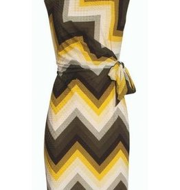 Smashed Lemon Smashed Lemon 18139-05 Yellow Zig Zag Dress