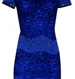 Smashed Lemon Smashed Lemon 18093-03 Blues Lace Dress