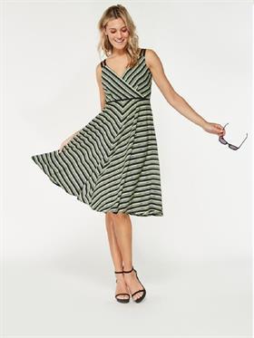 Smashed Lemon Smashed Lemon 18144-09 Greens Striped Dress