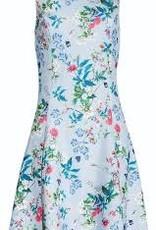 Smashed Lemon Smashed Lemon 18184-03 Light Blue Flowers and Leaves Dress