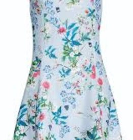 Smashed Lemon Smashed Lemon 18184-03 Light Blue Flowers and Leaves Dress