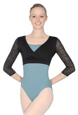 Bloch Bloch Mirella M7042LM Ornate Mesh 3/4 Sleeve Wrap Top