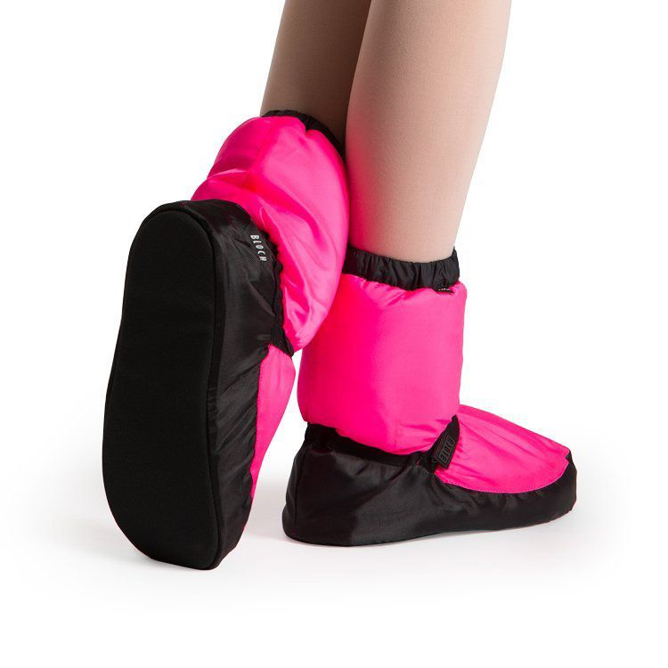 Bloch Warm-up booties for ladies and men designed by Bloch Stars and American Ballet Theater Principal Dancers Irina Dvorovenko and Max Beloserkovsky.