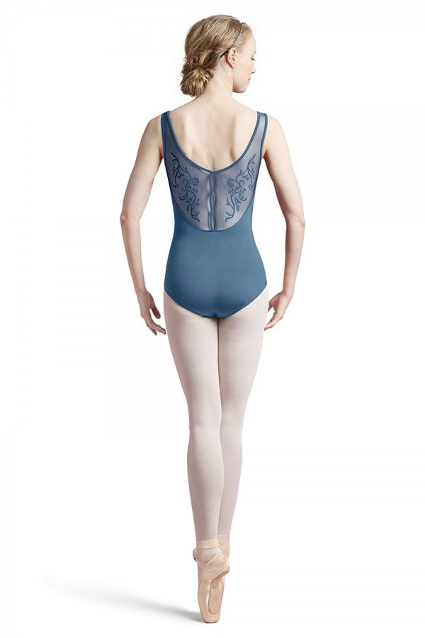 Bloch Bloch L8935 Vine Flock Back Tank Leotard