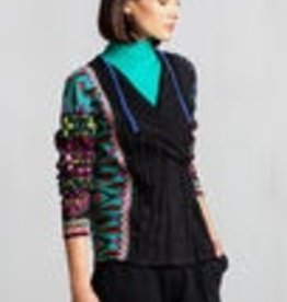 IVKO Knits IVKO Knits 72614 Knit Cardigan Geometric Print ON SALE ! !