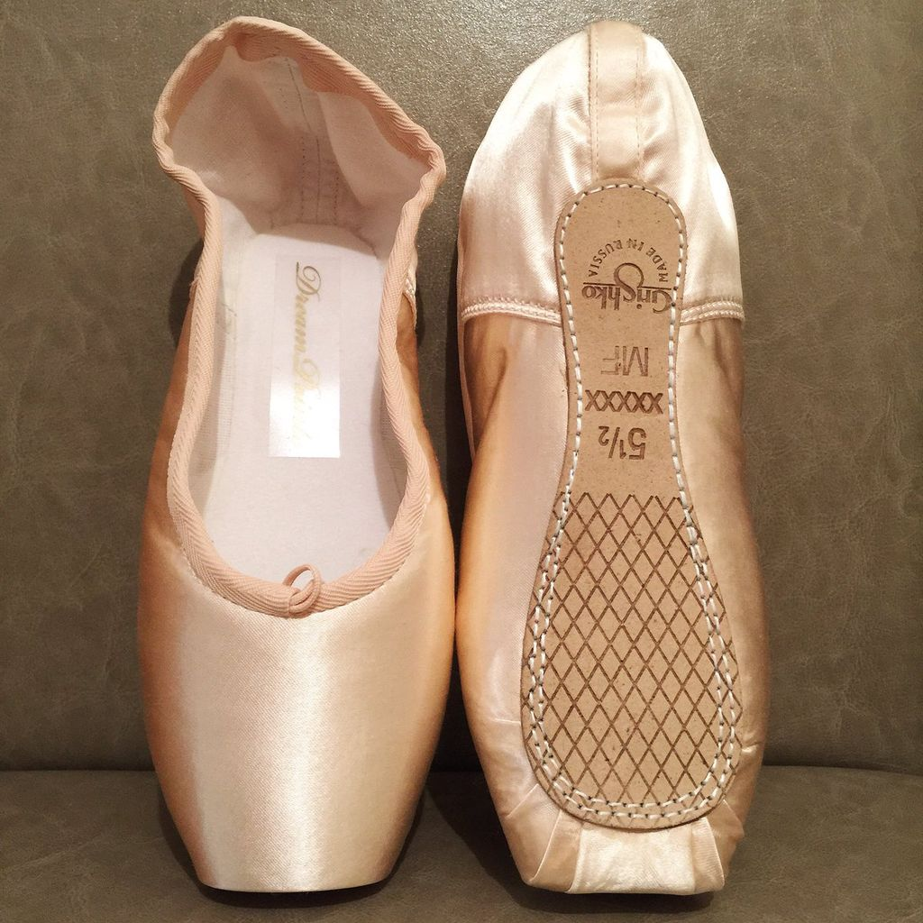 Grishko Made in Russia. Upper Material: Satin Sole Material: Leather
